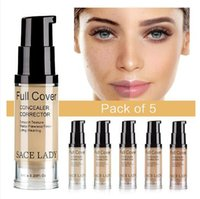SACE LADY 5 colori Liquid Concealer Full Cover Crema Viso Flawless Makeup