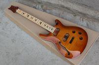 Kit chitarra elettrica Custom Factory rosso scuro (parti) con tastiera in acero, collo e corpo, chitarra semilavorata, inserto nero uccello