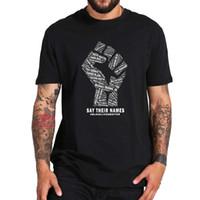 Dites leurs noms des vies noire matière d'histoire T-shirt noir à manches courtes Tops coton doux