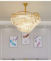 مصابيح غرفة الثريا الحياة العصرية بسيط الجو مصباح إنارة منزل فخم مصباح غرفة نوم بسيطة مطعم الكريستال الأوروبي