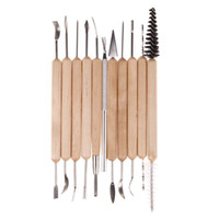 Tool Sets 14 Pieces Multifunctional Ceramic Pottery Kit Clay Carving Set Ceramic Clay Tools Art Supplies Profit Small