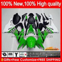 Corpo per Kawasaki ZX10R ZX1000C verde ZX10R luce 08 09 10 Carrozzeria 45HC.7 ZX 10R 1000CC ZX1000 ZX 10 R 2008 2009 2010 kit completi carenature