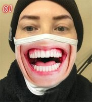 Reusable 3D Printing Cartoon face masks Mouth Mask Funny Dus...