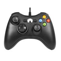 Controlador de juegos USB con cable de choque Gamepad Joystick para Microsoft Xbox Slim 360 PC Windows PC con los botones de los hombros