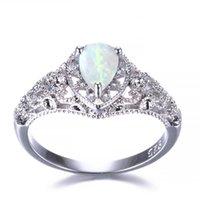 5 PC Luckyshine S925 Sterling Silber Frauen Opal Ringe Blau Weiß Natural Mystic Regenbogen Topaz Hochzeit Engagemen Ringe # 7-10