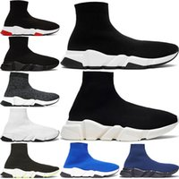 2020 New Paris Speed ​​Trainer Knit Socke Schuhe Original Luxus Designer Herren Damen Turnschuhe Rabatt Beste Qualität Freizeitschuhe 36-45