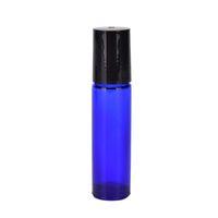 Bouteille de rouleau en verre bleu pour huiles essentielles Œil de parfum crème 10ml rouleau sur flacon avec bille pour rouler