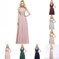 Babyonlinedress New Design Halter Neck Pearls Lace Pink Evening Dresses 2020 Sexy Illusion Prom Dresses Long Zipper Evening Gowns CPS912
