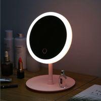 LED 메이크업 거울 조정 3 가벼운 화장 거울 램프 데스크톱 충전식 소녀 휴대용 거울 테이블 램프 XD23559
