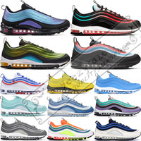 2019 2019 Nike Air Max 97 Throwback Future Men Running Shoes Corte Purple Neon Seoul Triple Black White Bright Citron Game Royal Women Sneakers sportive 36-45