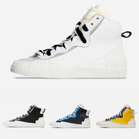 OG Blazer Mid Con Dunk Mens Running Shoes University High Cut Bianco Grigio Nero Blu Varsity Maize Uomini Sport sneakers 40-45