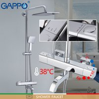 Gappo bañera grifos de control automático del termostato de baño grifos de ducha de lluvia del mezclador juego de ducha de la bañera cascada grifo mezclador de agua