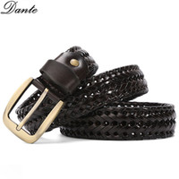 High Quality Weave Belt Luxury Belts New Fashion Mens Business Belts needle buckle Genuine Leather Belts For Mens Waist Belt With Boxs