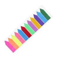 12 색 스티커 메모 색인 메모 패드 라벨 용지 책갈피 스티커 용품