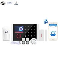 CS108- Çift Ağ Akıllı Wifi Ev Hırsız Alarm Kablosuz Kapı Zili Evleri Güvenlik GSM Alarmları Sistemi Toptan
