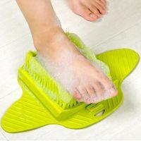 5шт пластиковая ванна душ щетка для ног скруббер ванны ноги массажные тапочки щетка скраб отшелушивающий спа-душ удалить мертвую кожу lp0157
