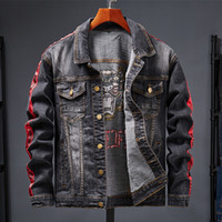 2019 Spring Autumn Fashion Men's Denim Jackets Coats Men cotton Jacket Mens Jean Jacket Outwear Male Cowboy Size M-3XL