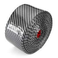 2.5 m carbono suave negro parachoques tira de fibra de goma diy umbral de la puerta protector de borde pegatinas de coche car styling accesorios
