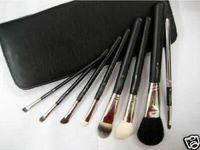 Gratis gåva !!! Hot grossist professionell makeupborste läder 8 stycken Makeup Brush Set Kit (5pcs / lot)