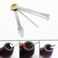 Faltender Edelstahl-Rohrreiniger Drei in einem Reibahlen Tamper Einfach zu tragen Reinigungswerkzeuge für Zuhause 1 2hw BB