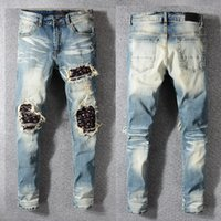 fcc1483bca33 ... Distressed Hollow Out Mix Grey Sides Denim Skinny Black Jeans Slim  Trousers Causaul Pant Size 28-40. US  64.55   Piece. New Arrival