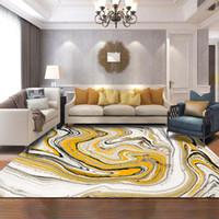 Marbling abstractos modernos Alfombras para la sala de estar dormitorio las alfombras de gran alfombra Inicio Alfombra Piso Puerta Mat Decoración