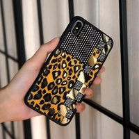 For Iphone X XR Xs max Fashion luxury Leopard Grain Cellphon...