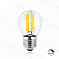 LED Ampuller G45 Dim Filament Mum Işık Ampul 2 W 4 W 6 W E14 E27 Kristal Avizeler Için Kolye Kat Masa Işıkları DHL