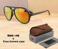 케이스 및 상자 새로운 우수한 브랜드 디자이너 타원형 선글라스 여성 남성 안티 UV400 코팅 안경 남성 미러 안경 스포츠 고글