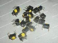 50PCS SKHHCRA010 6X6 Commutateur tactile N.O. SPST Bouton rond PC Pins 0.05A 12VDC 5.1N trou traversant