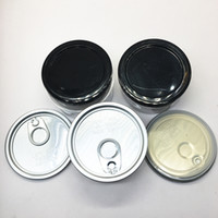 Autoadesivi personalizzati Plastica Cancella Lattine Borsa Smart Bud Food Inscatolato Imballaggio Barattolo 3.5Grams 100ml Contenitore vuoto Easy Tirare in alluminio in alluminio