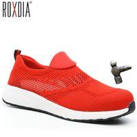 Roxdia Marke Sommer Lightweight Steel Toecap Männer Frauen Arbeit Sicherheitsstiefel Atmungsaktiv männlich weibliche Schuhe plus Größe 36-46 RXM120