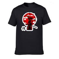 100% algodão SAMURAI GUERREIRO imprimir engraçado homens o-pescoço tops de homens dos homens t de moda T-shirt homens frescos t-shirt masculino camisetas