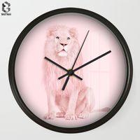 c9b20efcc0d Chique Art Relógio de Parede Dos Desenhos Animados Leão Doce Para Crianças  Decoração Da Parede Da Sala