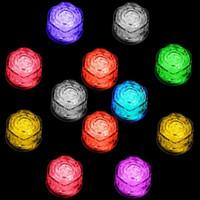 Işık Yavaş Yanıp sönen lamba Kristal Küp Sevgililer Günü Partisine Buz küplerinin Işıklar Parti Gece LED şekil Polikrom flaş buz küpü Gül