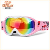 Çocuk Kar Kayak Goggles Anti Sis UV400 Çift Lens Kış Snowboard Gözlük GOOGLES Erkek Kız Kayak Gözlükler için