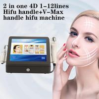 3D 4D HIFU 기계 V-HIFU 최대 2 대 1 항 Wrinklefacial 바디 리프팅 슬리밍 기계 (11 개)와 카트리지