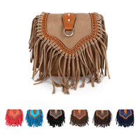 New Retro Women Leather Casual Tassel Shoulder Bag Girls Lad...