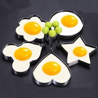 Mode Gebratene Eierringe Form Edelstahl Spiegelei Muster Pancake Shaper Maker Wiederholbare Küche Home Frittiergerät T2I5782