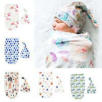 Newborn Infant Baby Swaddle Sleeping Bags Cartoon Animals Fl...
