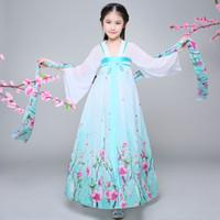 Sahne Giyim Çocuk Çin Halk Dans Kostüm Kızlar Hanfu Elbise Chinffon Çocuk Prenses Peri Cosplay 89