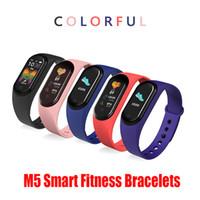 M5 Sport Fitness Band Tracker Montre-bracelet écran coloré intelligent de fréquence cardiaque Pression artérielle Smartband Health Monitor Wristband