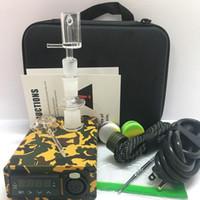 Tragbare Quarz E nagel kit enail bong PID box männlich weiblich joint fit 110/220 V 20mm spule heizung club banger elektrische nagel betupfen ölplattformen