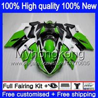 Kropp för Kawasaki ZX-600 ZX 6R 600cc 6 R ZX636 2005 2006 Ny glansig grön 210my.8 ZX-636 600 CC ZX6R 05 06 ZX600 ZX 636 ZX-6R 05 06 FAIRING