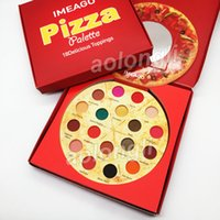 IMEAGO Pizza Eyeshadow Palette 18 colour Makeup Eyeshadow Palette Beauty 18 Delicious Toppers Matte shimmer bronzers Palette Blush free DHL