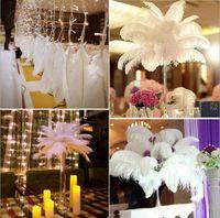Ostrich Feather Plumas para o casamento da peça central do partido Tabela desktop decoração penas bonitas DIY partido decorativa 14-16inch LXL386-A