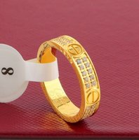 Hot sale CNC 5mm width band ring with two line diamond in Go...
