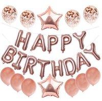 Ducha lámina de globos de látex confeti Globos cumpleaños del niño del bebé del banquete de boda de la decoración hoja hincha 5 colores KKA7796