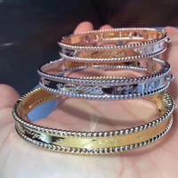 Top marca 100% 925 designer de jóias trevo pulseira para as mulheres amor pulseira festa de casamento melhor presente atacado trevo de jóias