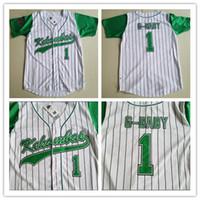 Jarius G-Baby - Evans 1 - Kekambas - Baseballtrikot enthält einen aufgenähten, genähten grünen Hardball sowie einen ARCHA - Patchstickerei
